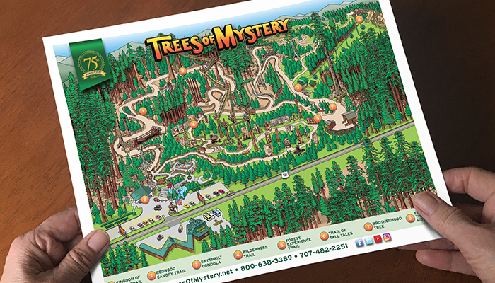 Trees of Mystery Map